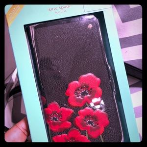 Kate Spade large poppies folio for IPhoneX